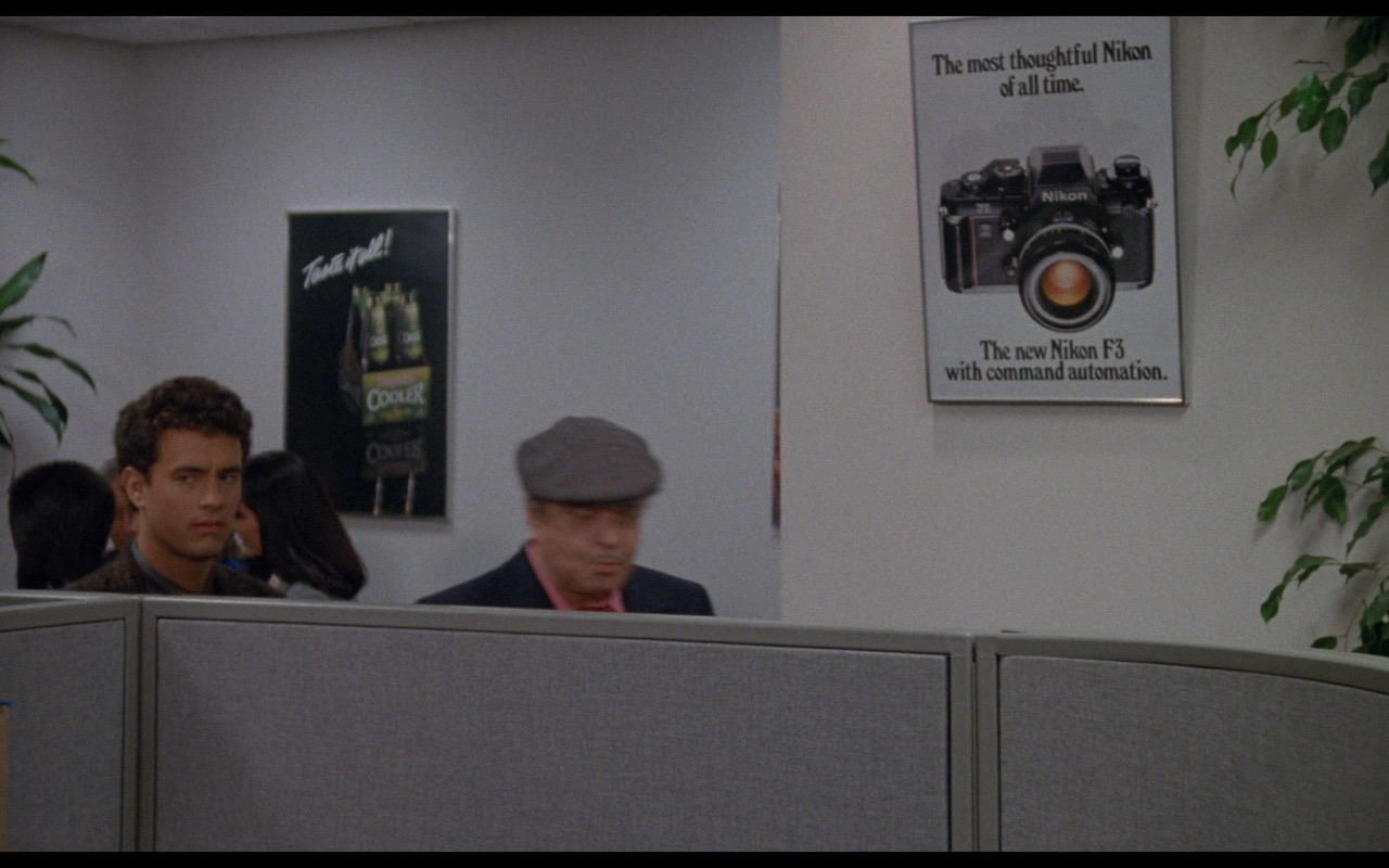 Seagram's Wine Cooler and Nikon F3 Posters – Nothing in Common (1986) Movie Product Placement