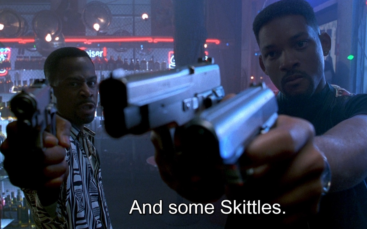 Skittles – Bad Boys (1995) Movie Product Placement