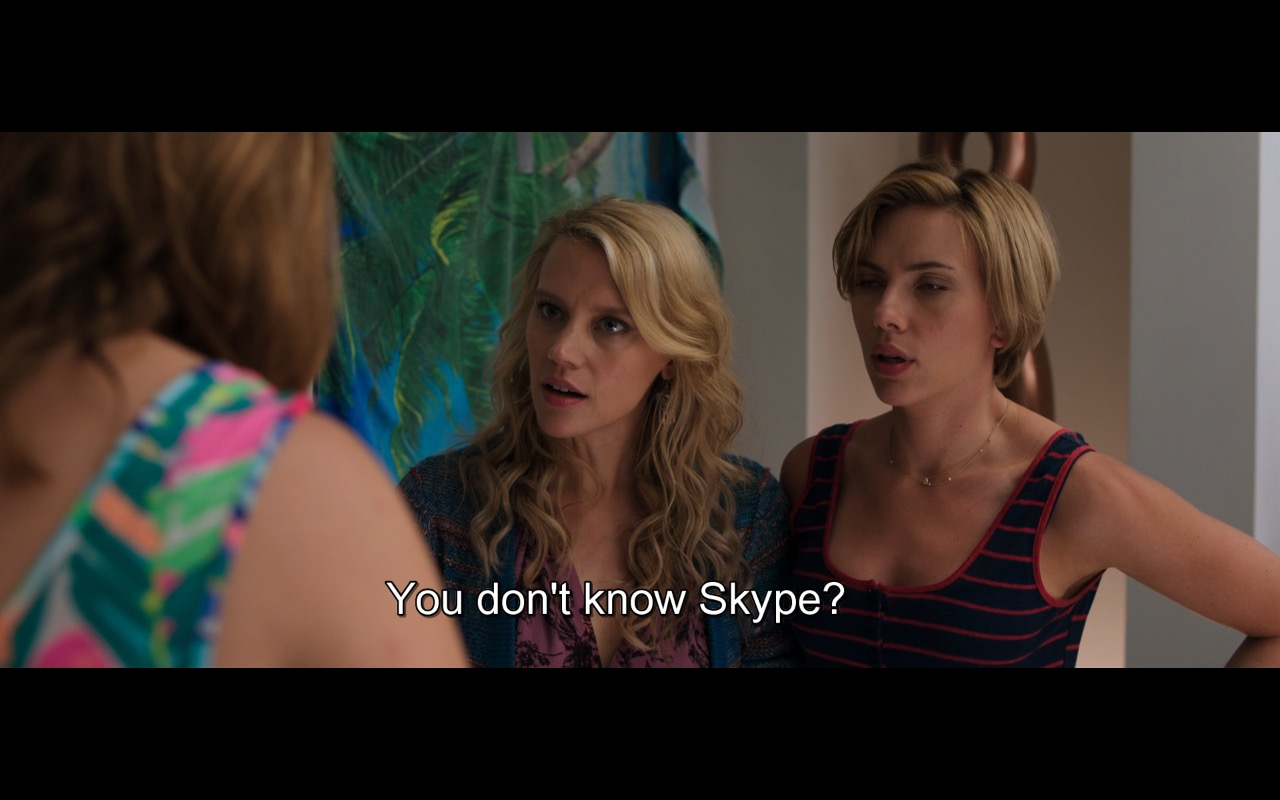 Skype – Rough Night (2017) - Movie Product Placement