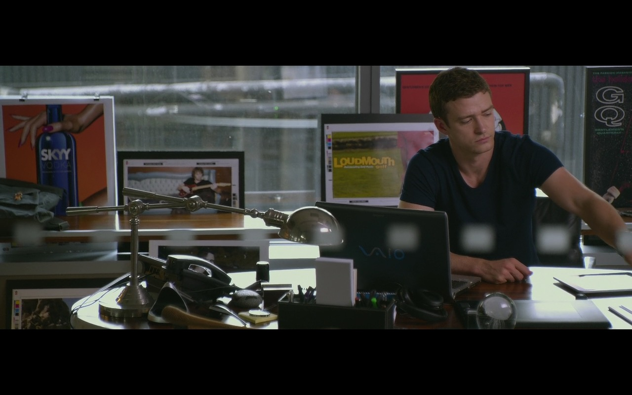 GQ, Skyy Vodka, Loudmouth Golf And Sony VAIO Notebook – Friends with Benefits (2011) - Movie Product Placement
