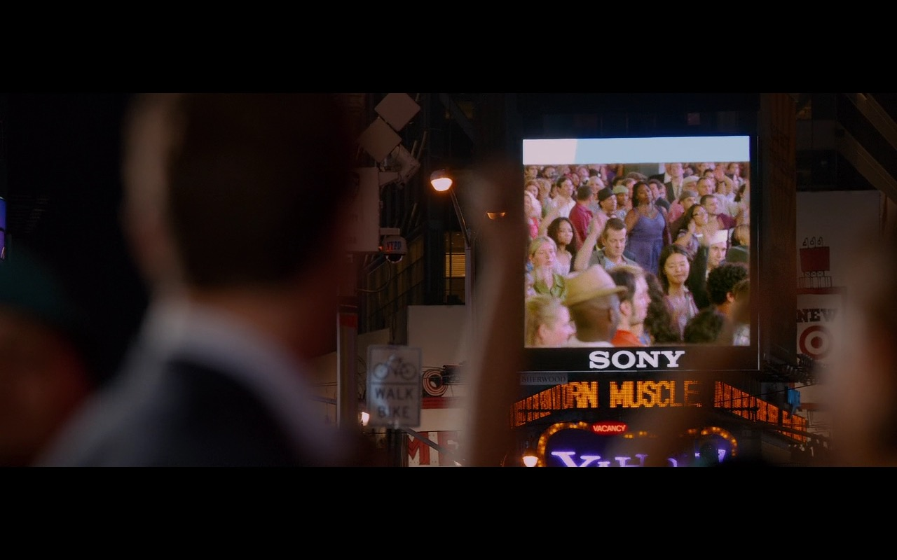 Sony Digital Billboard – Friends with Benefits (2011) Movie Product Placement