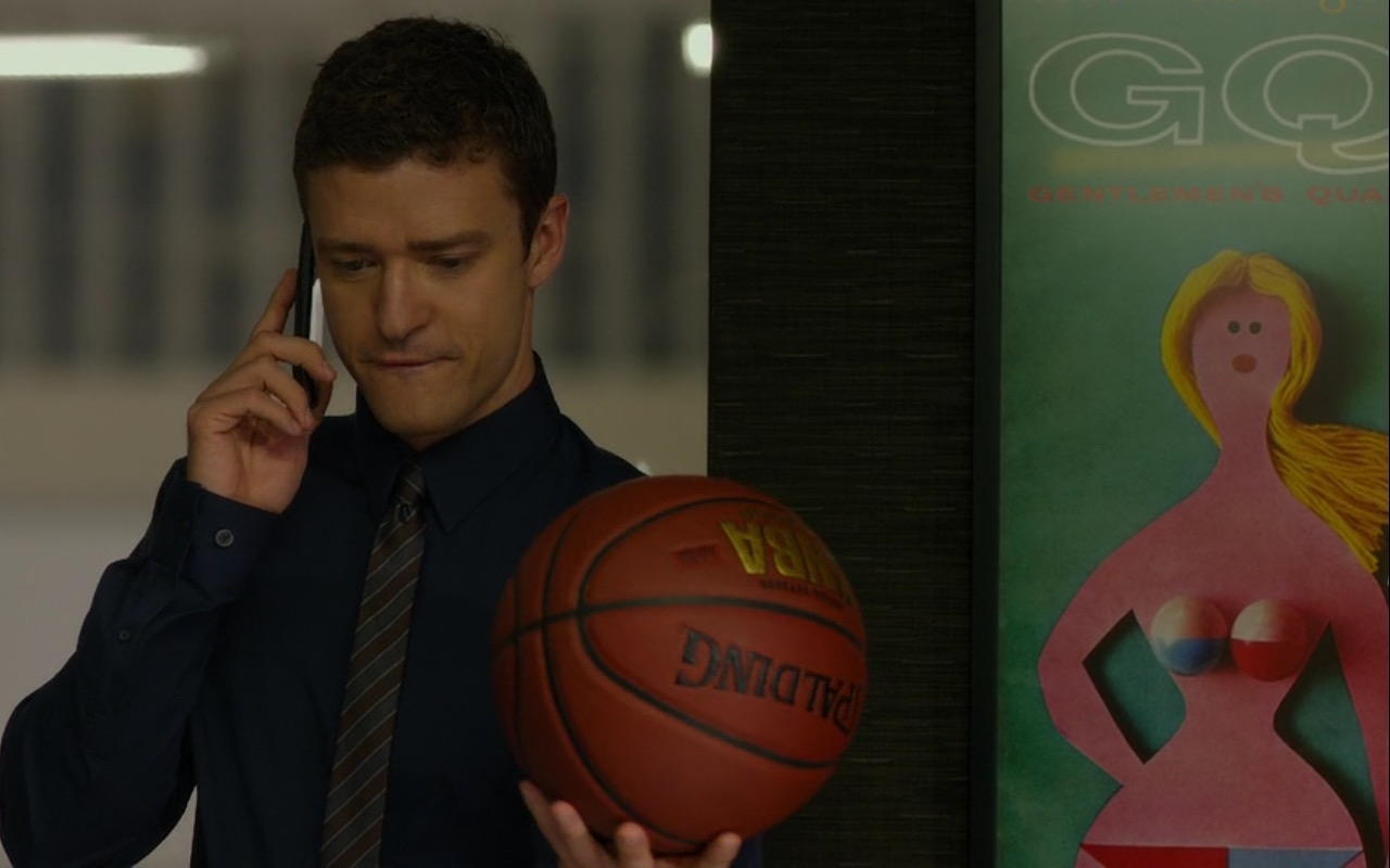 GQ and Spalding Basketball Ball – Friends with Benefits (2011) Movie Product Placement