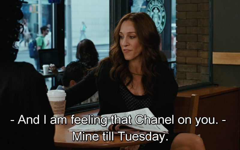 Starbucks And Chanel Bag – Sex and the City (1)
