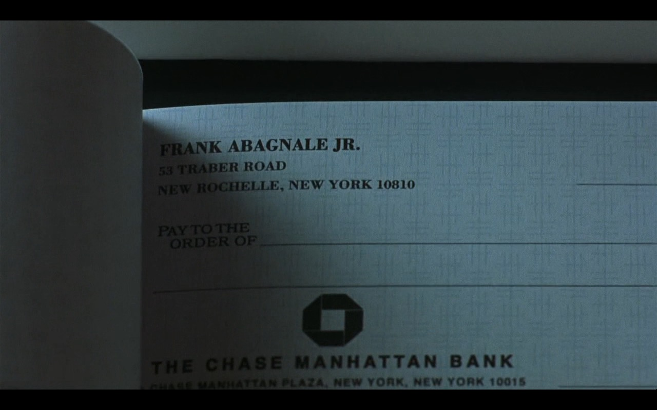 The Chase Manhattan Bank – Catch Me If You Can (2002) - Movie Product Placement