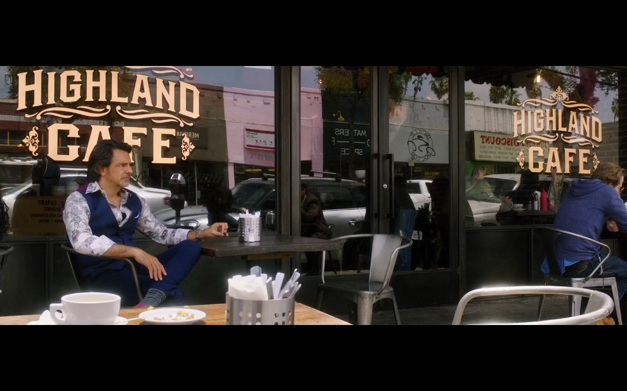 The Highland Cafe – How to Be a Latin Lover (2017) Movie Product Placement