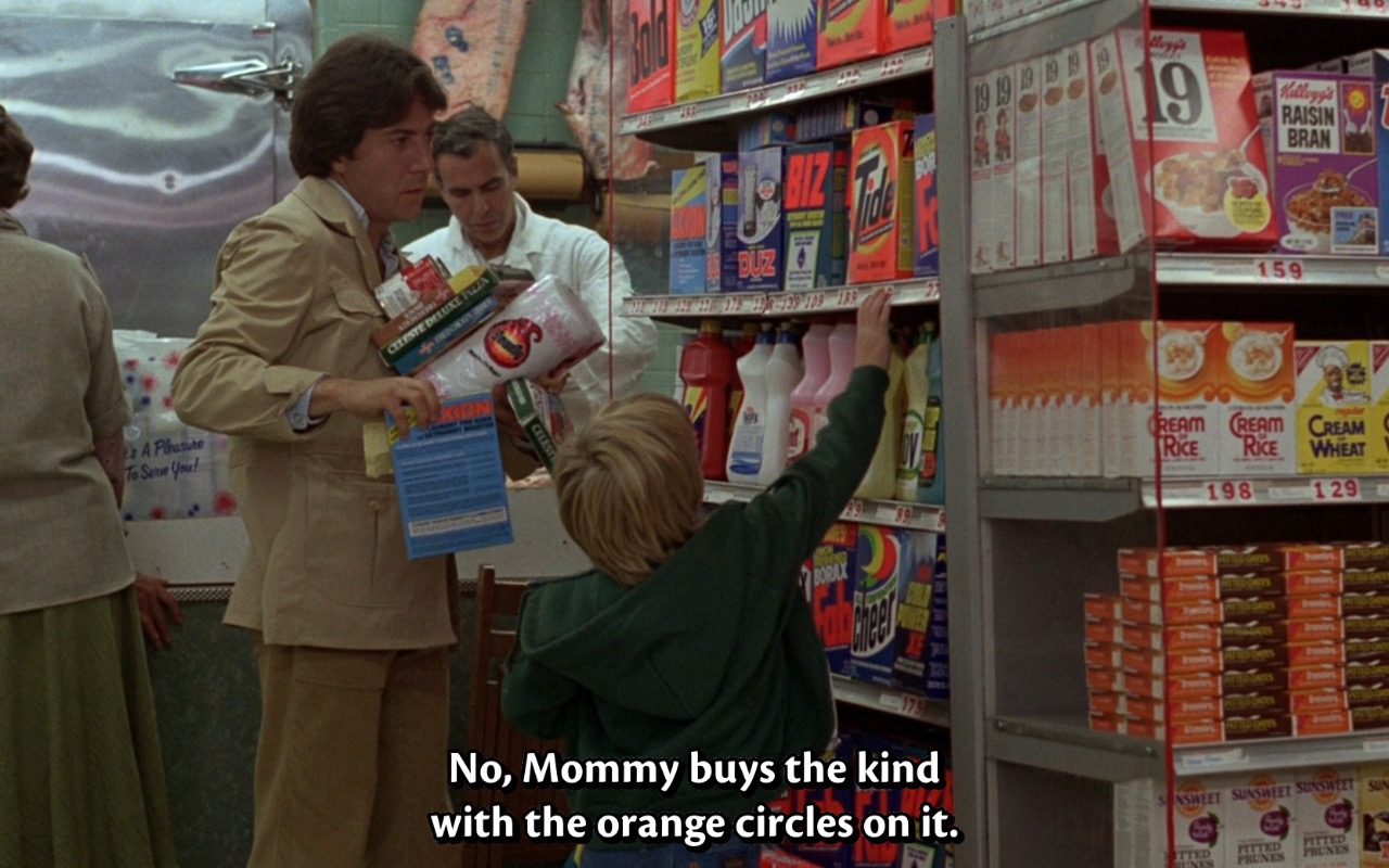 Tide Washing Powder – Kramer vs. Kramer (1979) Movie Product Placement