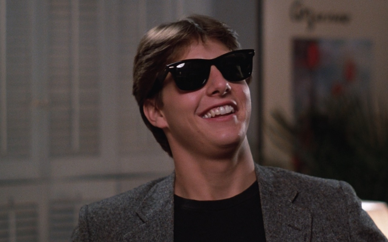 Ray-Ban Wayfarer Sunglasses worn by Tom Cruise in Risky Business (1983) Movie Product Placement