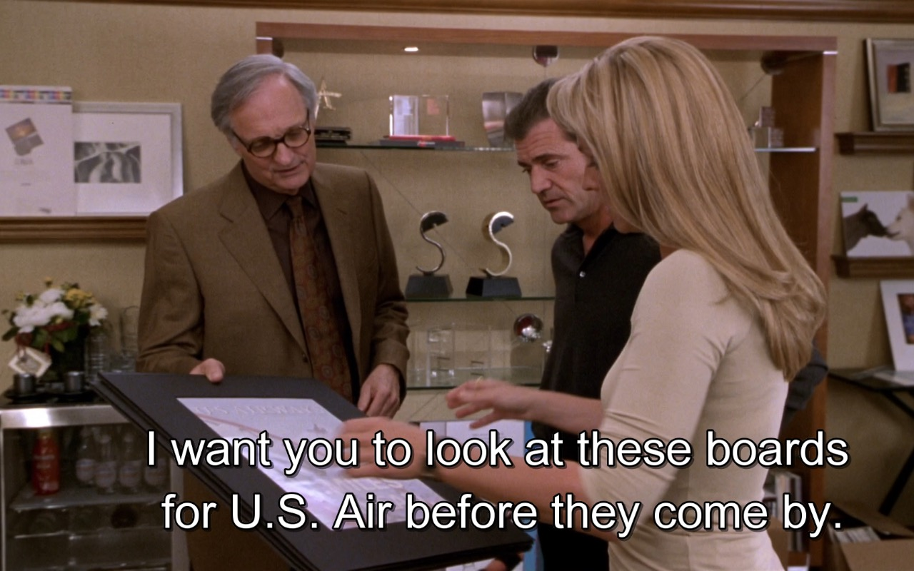 US Airways – What Women Want (2000) Movie Product Placement
