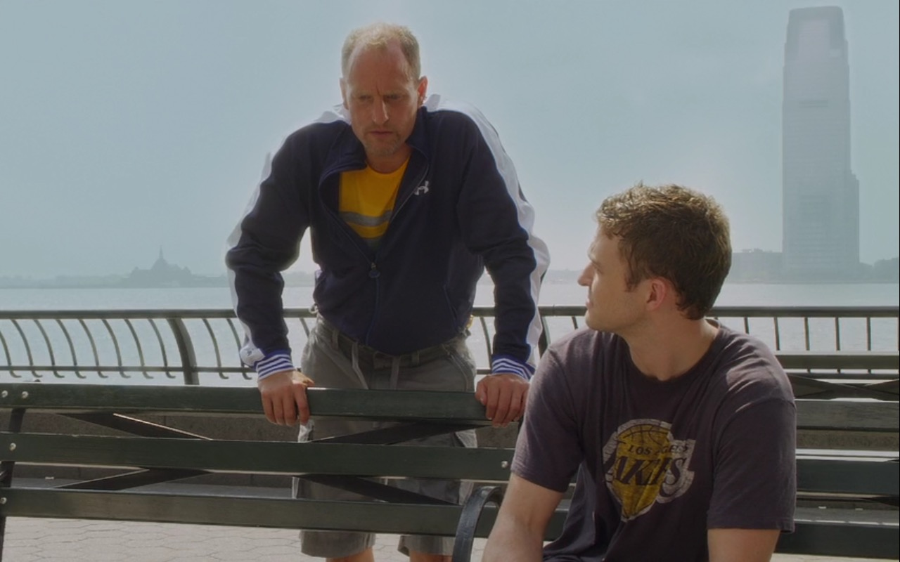 Under Armour Jacket and Los Angeles Lakers T-Shirt – Friends with Benefits (2011) - Movie Product Placement