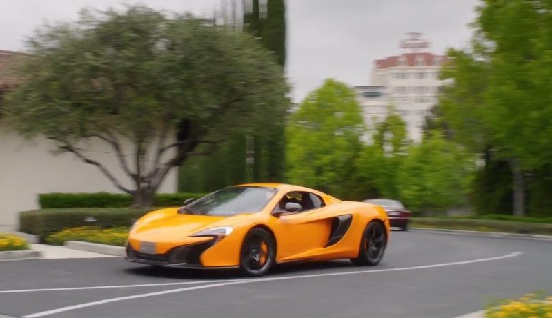 Yellow McLaren Car – How to Be a Latin Lover (1)