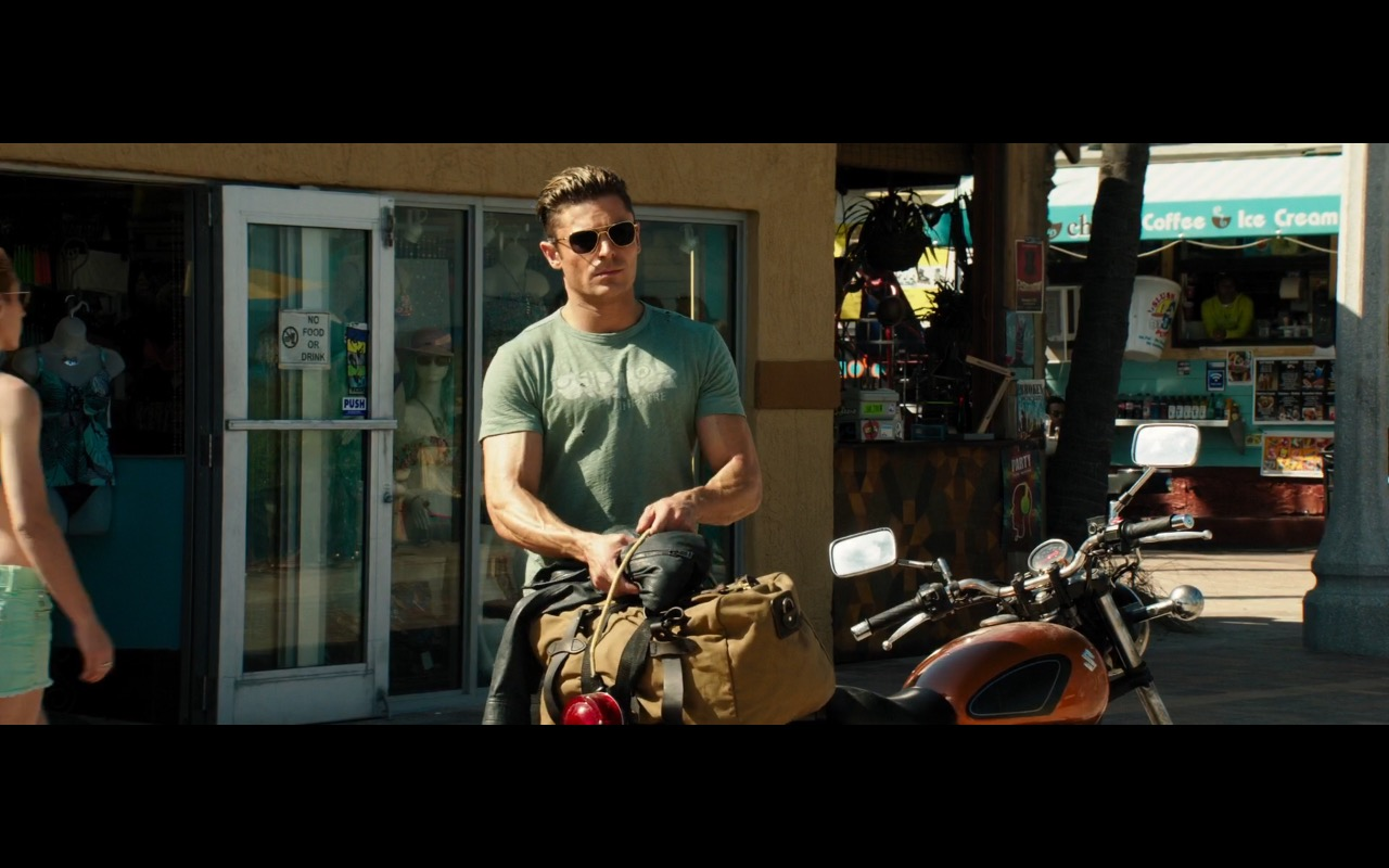 Zac Efron and Suzuki Motorcycle – Baywatch (2017) Movie Product Placement
