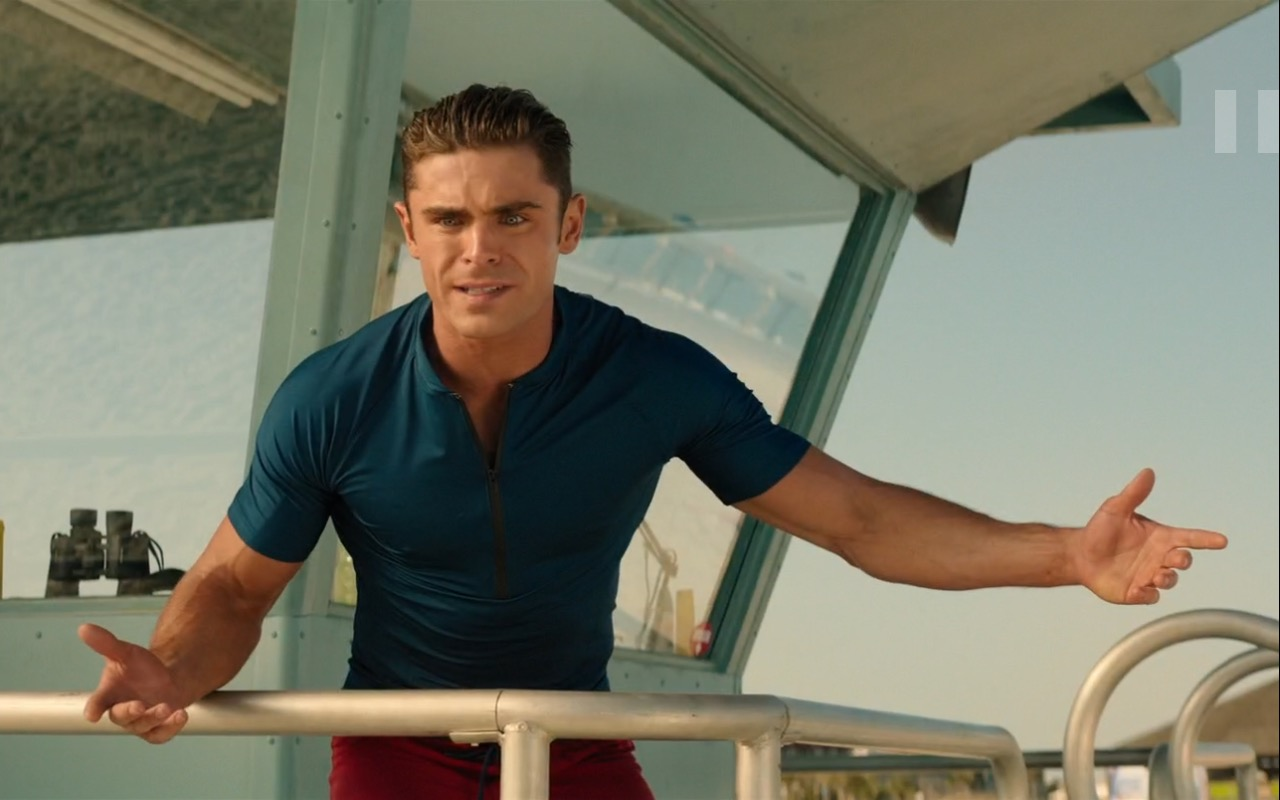 Zac Efron and Under Armour - Baywatch (2017) Movie Product Placement