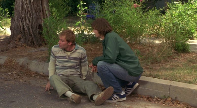 Adidas Blue Sneakers Worn by Ashton Kutcher in Dude, Where's My Car? (2000) - Movie Product Placement