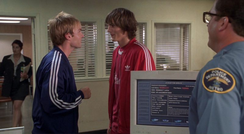 Apple Monitor and Adidas Tracksuits - Dude, Where's My Car? (2000) Movie Product Placement