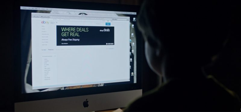 Apple iMac 21.5 and eBay.com Website in Tomorrowland (2015) - Movie Product Placement