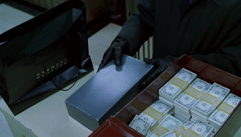 Barneys New York Paper Bag in A Perfect Murder (1998) - Movie Product Placement