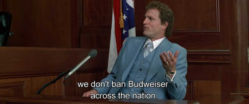 Budweiser Beer - The People vs. Larry Flynt (1996) - Movie Product Placement
