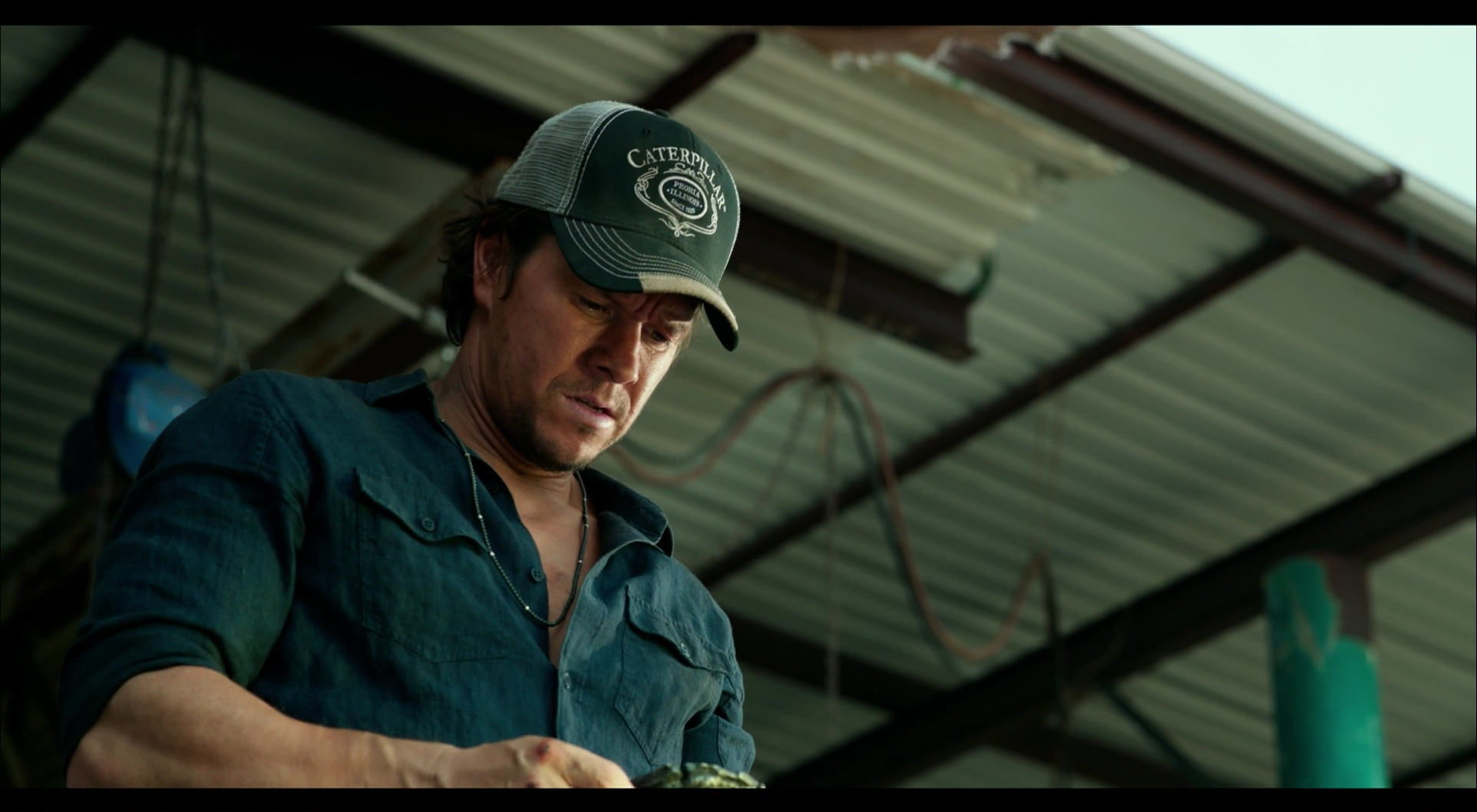 Caterpillar Cap Worn by Mark Wahlberg in Transformers 5: The Last Knight (2017) Movie