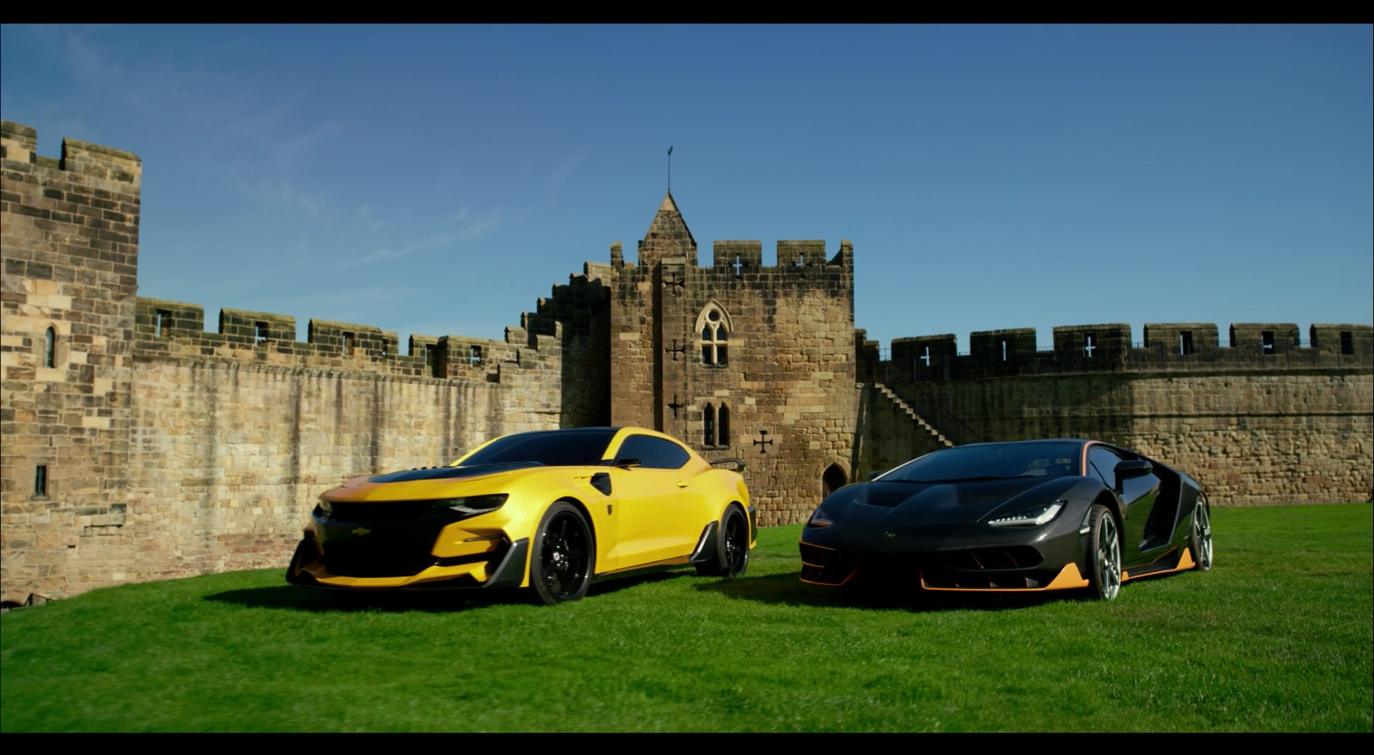Chevrolet Camaro And Lamborghini Centenario In Transformers 5 The