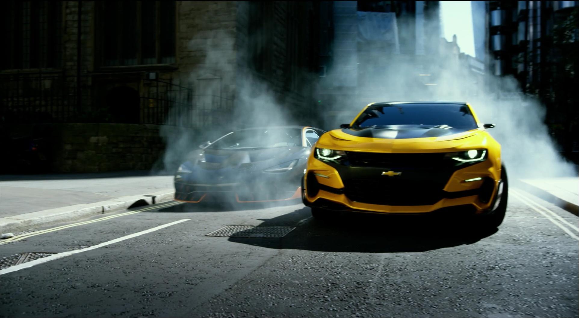 Chevrolet Camaro And Lamborghini Centenario In Transformers 5 The