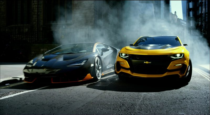 Chevrolet Camaro and Lamborghini Centenario in Transformers 5: The Last Knight (2017) Movie