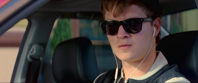 Eye Love Wayfarer Sunglasses Worn by Ansel Elgort in Baby Driver (2017) Movie Product Placement