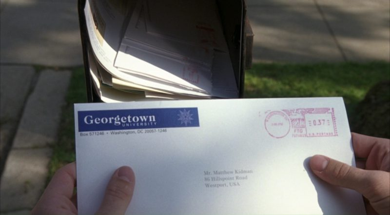 Georgetown University – The Girl Next Door (2004) - Movie Product Placement