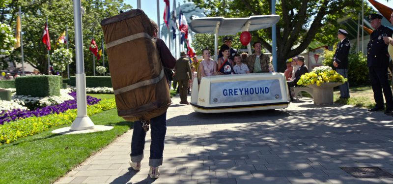 Greyhound Lines in Tomorrowland (2015) Movie Product Placement
