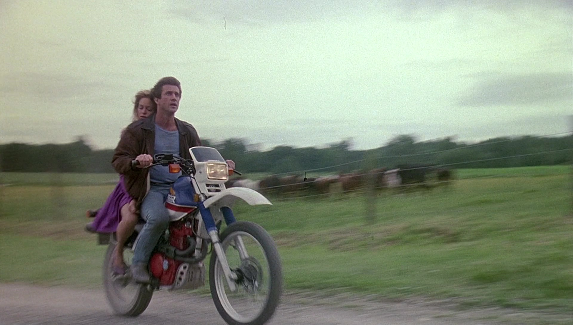 Seen in The Movie: Honda XL 600 R Motorcycle Driven by Mel Gibson in Bird on a Wire (1990)