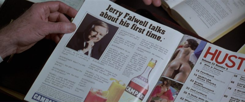 Hustler Magazine and Campari Advertising - The People vs. Larry Flynt (1996) Movie Product Placement