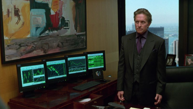 IBM Monitors Used by Michael Douglas in A Perfect Murder (1998) Movie Product Placement