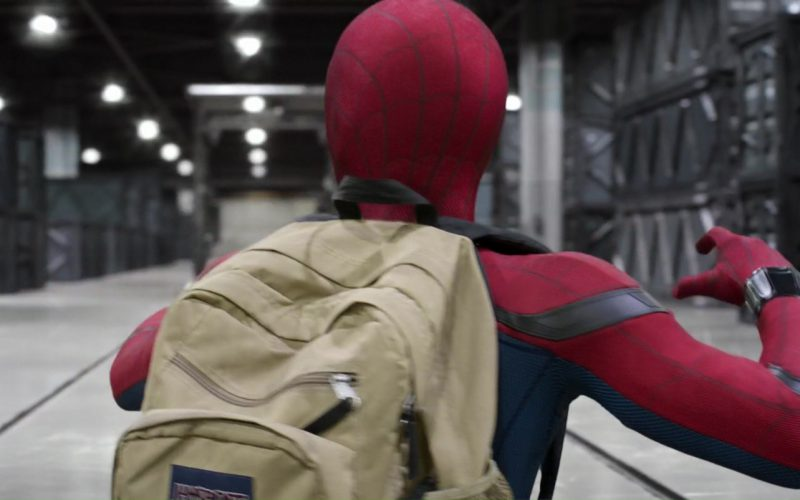 JanSport Backpack Worn by Tom Holland in Spider-Man Homecoming (6)