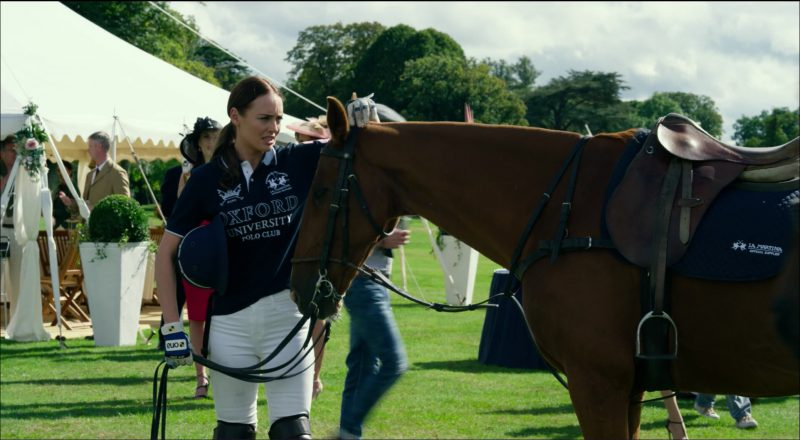 La Martina x Oxford Polo Shirt Worn by Laura Haddock in Transformers 5: The Last Knight (2017) - Movie Product Placement