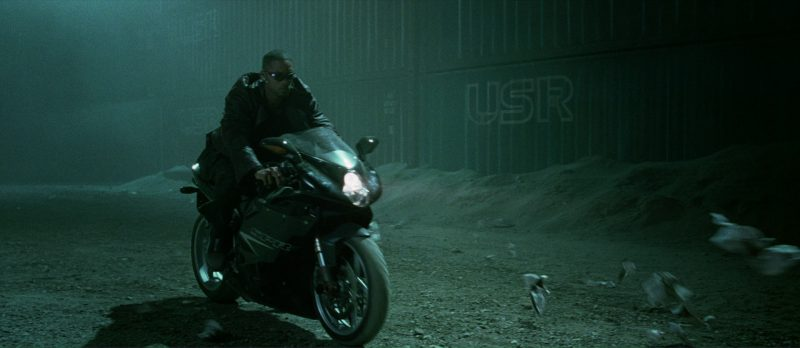 MV Agusta F4 SPR  Motorcycle Driven by Will Smith in I, Robot (2004) Movie Product Placement