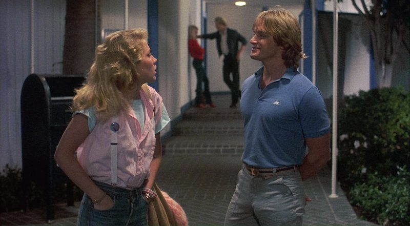 Nike Men's Blue Polo Shirt – Private Resort (1985) Movie Product Placement