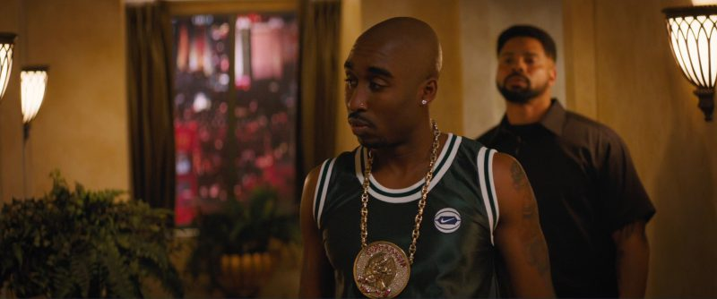 Nike T-Shirt Worn by Demetrius Shipp Jr. in All Eyez on Me (2017) Movie Product Placement