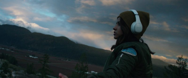 Samsung Level Headphones Used by Becky G (Rebbeca Marie Gomez) in Power Rangers (2017) Movie Product Placement