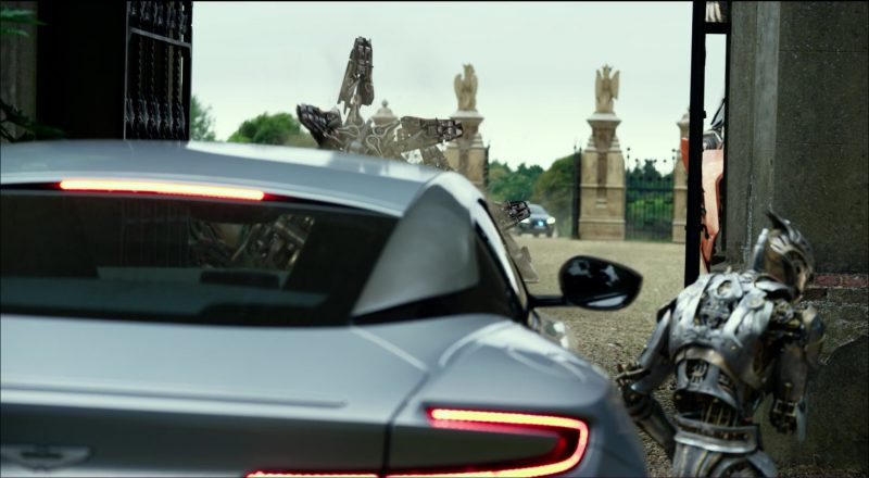 Silver Aston Martin DB11 in Transformers 5: The Last Knight (2017) - Movie Product Placement