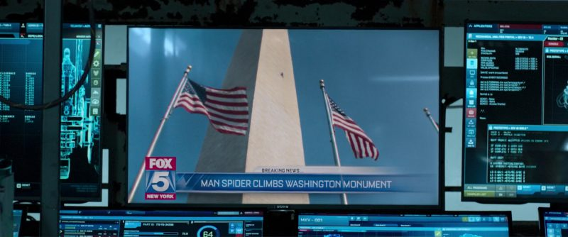 Sony TV and Fox 5 New York Television Channel in Spider-Man: Homecoming (2017) - Movie Product Placement