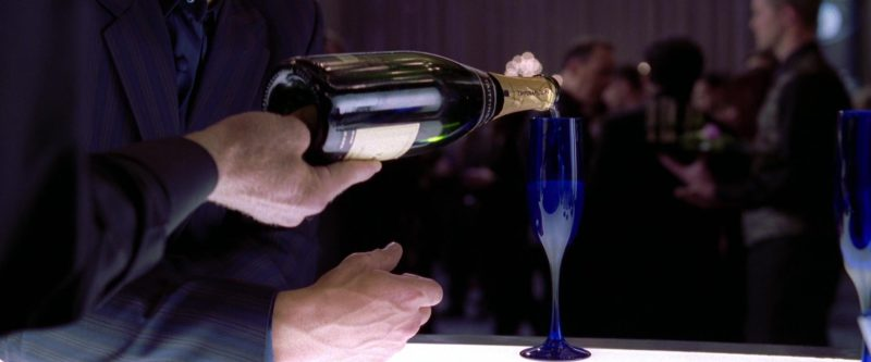 Taittinger Champagne Drunk by James Franco in Spider-Man 2 (2004) Movie Product Placement