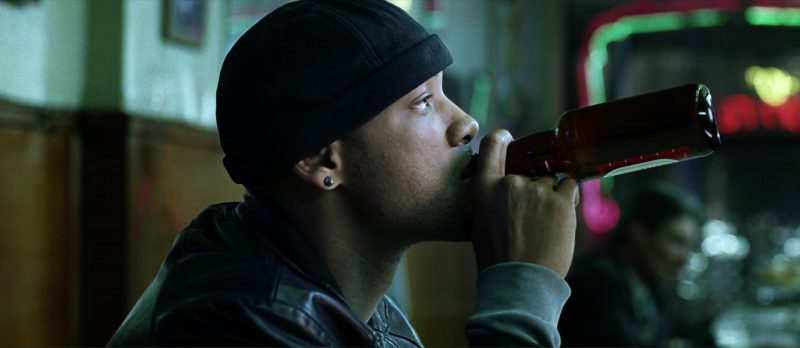 Tecate Beer Drunk by Will Smith and Chi McBride in I, Robot (2004) - Movie Product Placement
