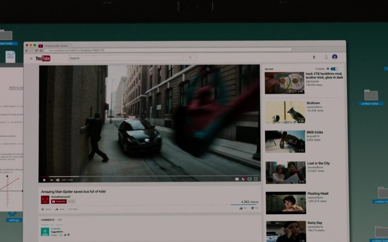 Youtube Website in Spider-Man Homecoming (1)