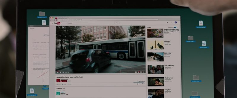 Youtube Website in Spider-Man: Homecoming (2017) Movie Product Placement