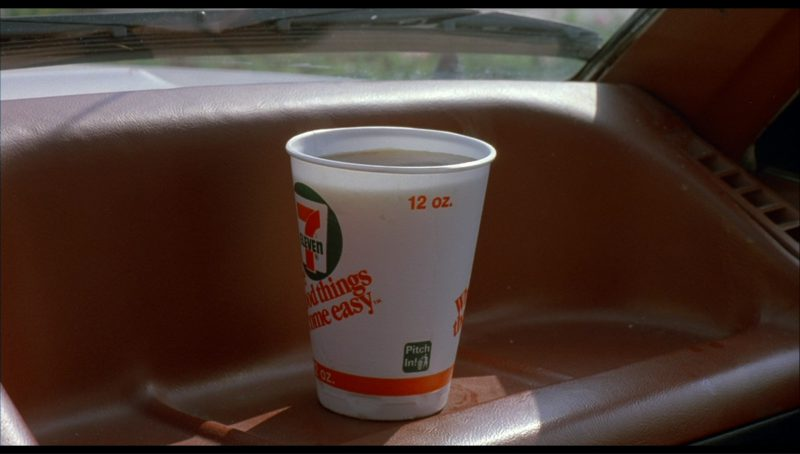 7-Eleven Coffee in License to Drive (1988) Movie Product Placement
