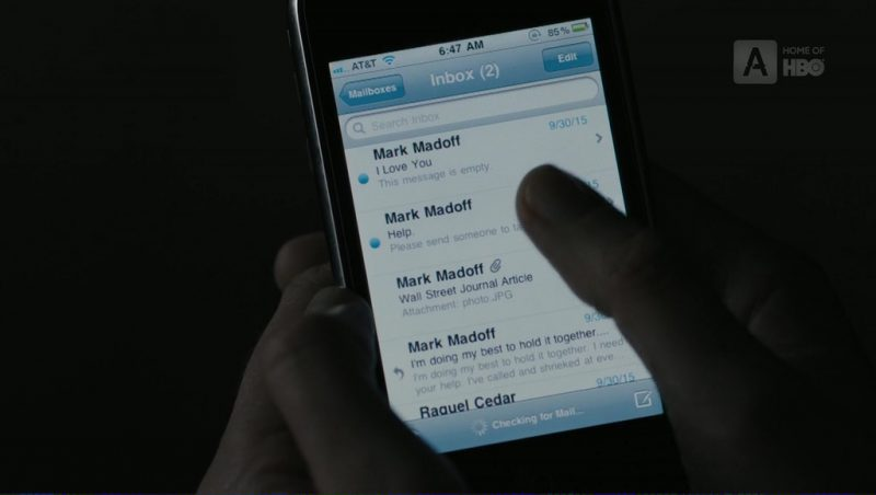 AT&T and iPhone in The Wizard of Lies (2017) Movie Product Placement