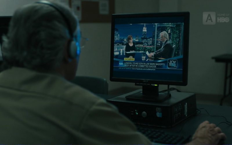 Acer Monitor, HLN and Joy Behar TV Show in The Wizard of Lies (1)