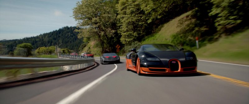 Bugatti Veyron SS Sports Car in NEED FOR SPEED (2014) Movie Product Placement