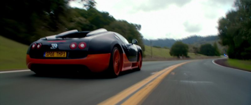 Bugatti Veyron SS Sports Car in NEED FOR SPEED (2014) - Movie Product Placement