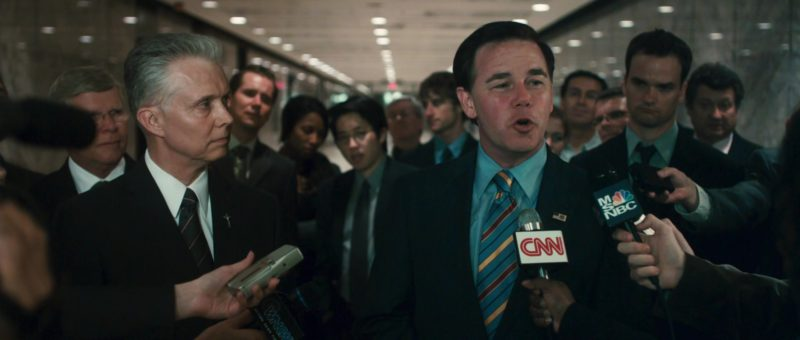 CNN and MSNBC microphones in CASINO JACK (2010) Movie Product Placement