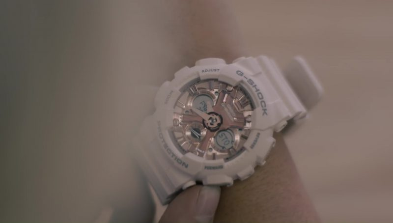 Casio G-Shock Watches (White) Worn by Bebe Rexha in Meant to Be (feat. Florida Georgia Line) (2017) Official Music Video Product Placement